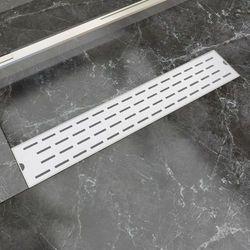 vidaXL Kratka odpływowa, liniowa, 630x140 mm, wzór linii, stal nierdzewna Darmowa wysyłka i zwroty