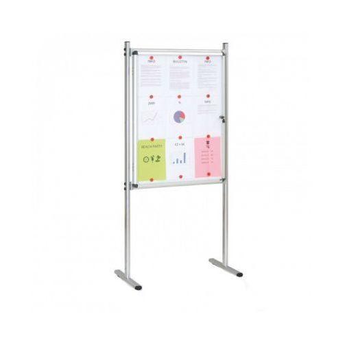 Gabloty reklamowe, Gablota wewnętrzna na stojaku, magnetyczna, jednostronna
