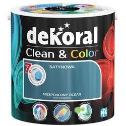 Satynowa farba lateksowa Dekoral Clean&Color niespokojny ocean 2 5 l