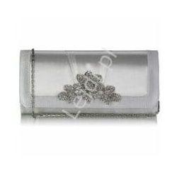 Torebka ślubna z kryształową broszką, ivory