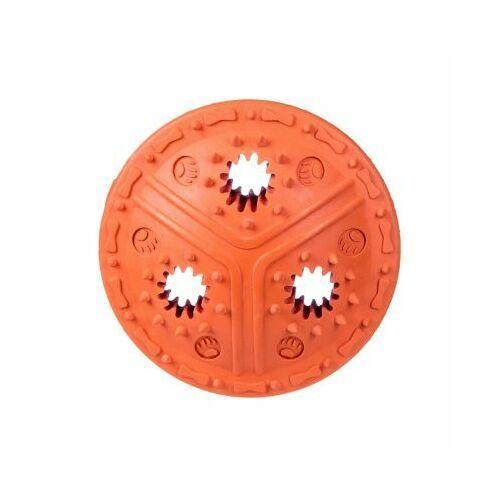 Pozostałe zabawki, Dysk kauczukowy na przysmaki - orange