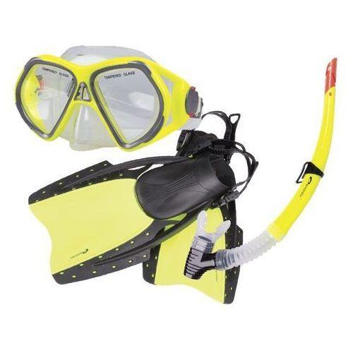 Maski, płetwy i fajki, Płetwy+maska+fajka Spokey REEF