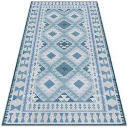 Modny uniwersalny dywan winylowy Modny uniwersalny dywan winylowy Niebieskie romby