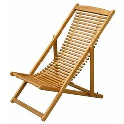 Leżak GoodHome składany drewniany