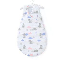 MAMO-TATO Śpiworek niemowlęcy do spania Bubble - Niedźwiadki z niebieskim