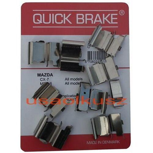Zestawy naprawcze klocków hamulcowych, Zestaw montażowy przednich klocków hamulcowych Lincoln MKX