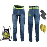 Spodnie motocyklowe damskie, Damskie dżinsy motocyklowe W-TEC Ekscita, Niebieski, 30