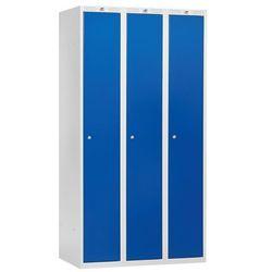 Szafa ubraniowa CLASSIC, 3 moduły, 1740x900x550 mm, niebieski