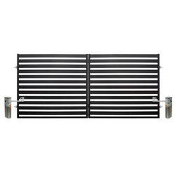 Brama dwuskrzydłowa Polbram Steel Group Lara automatyczna 3 5 x 1 54 m czarna