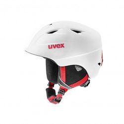 UVEX kask narciarski dziecięcy Airwing 2 pro - white-red mat (52-54 cm)