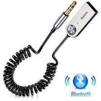 Transmitery samochodowe, Baseus BA01 / Adapter transmiter Audio AUX odbiornik dźwięku Bluetooth 5.0 do samochodu