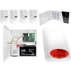 System alarmowy małego sklepu Płyta główna CA-4 VP Manipulator CA-4 VKLED 4x Czujka ruchu LC-100 Sygnalizator zewnętrzny