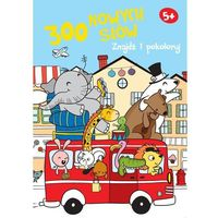 Książki dla dzieci, Znajdź i pokoloruj. 300 nowych słów 5+ (niebieska) (opr. broszurowa)