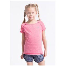Koszulka sportowa dla małych dziewczynek JTSD300Z - róż melanż