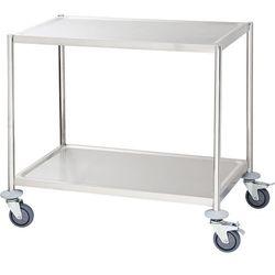 Wózek kelnerski 2-półkowy płaski bez rączek STALGAST 661040