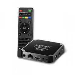 SAVIO Smart TV Box Premium One, 2/16 GB, Android 9.0, HDMI v2.0, 4K, USB, WiFi, SD, TB-P01