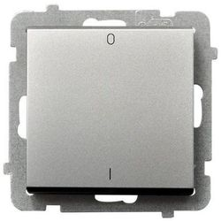 Łącznik dwubiegunowy Ospel Sonata ŁP-11R/M/38 16AX IP20 srebrny mat