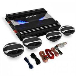 """Auna 4.0 auto Hifi Set """"Black Line 420"""" wzmacniacz głośniki"""