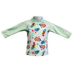 Bluzka kąpielowa koszulka dzieci 130cm filtr UV50+ - Mint Floral \ 130cm