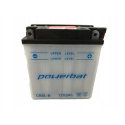 Akumulator motocyklowy POWERBAT CB5L-B / YB5L-B 12V 5Ah 65A P+
