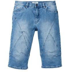 "Długie bermudy dżinsowe ze stretchem Regular Fit bonprix niebieski ""medium bleached"