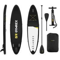 Pozostałe sporty wodne, Deska SUP - dmuchana - Balance Line - 145 kg - czarna