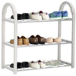 Szafka na buty z metalowymi 3 półkami regał szary