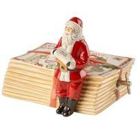 Ozdoby świąteczne, Villeroy & Boch - Nostalgic Melody Pozytywka Św. Mikołaj na listach
