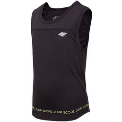 Koszulka treningowa bez rękawów dla małych chłopców JTSM306 - czarny