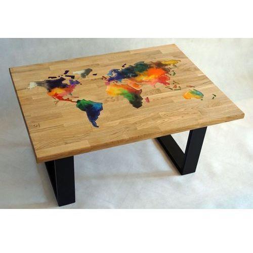 Stoliki i ławy, Stolik z żywicy 65x90 Kontynenty