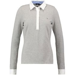 GANT OXFORD Koszulka polo grey melange