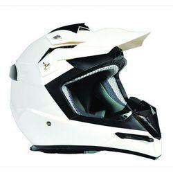 Kask Motocross Enduro MX Ozone FMX Biały