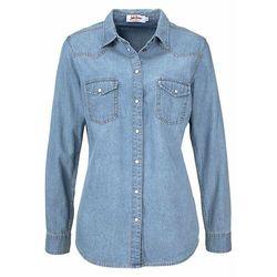 """Koszula dżinsowa, długi rękaw bonprix jasnoniebieski """"bleached"""""""