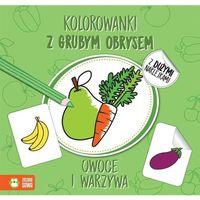 Kolorowanki, Owoce I Warzywa Kolorowanki Z Grubym Obrysem - Agnieszka Matz