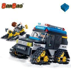 BanBao Zimowy samochód policyjny, 7007 Darmowa wysyłka i zwroty