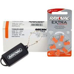 60 x baterie do aparatów słuchowych Rayovac Extra Advanced 13 + zasobnik na baterie Rayovac