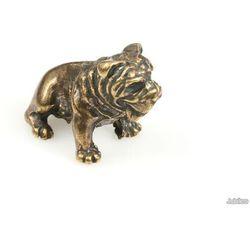 FIGURKA PIES BULDOG japan style kolor stare złoto zwierzęta romantyczne