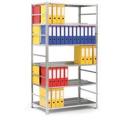 Regał na segregatory COMPACT, szary, 8 półek, 2550x1000x600 mm, podstawowy