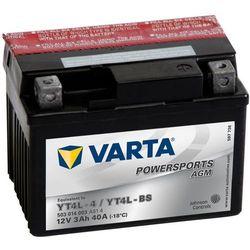 Varta Akumulator motocyklowy Powersports AGM YT4L-4 / YT4L-BS Darmowa wysyłka i zwroty