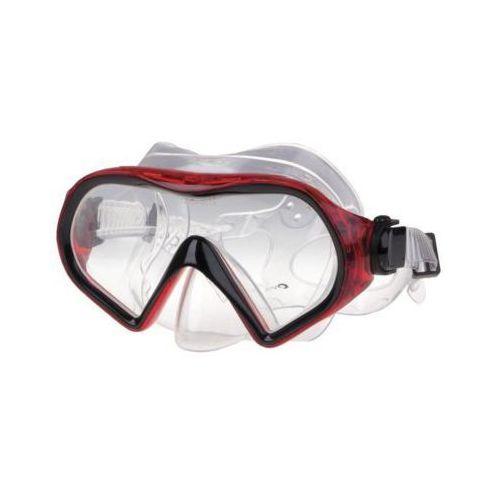 Maski, płetwy i fajki, Maska do nurkowania SPOKEY Tabaro 83626 Przezroczysto-czerwony