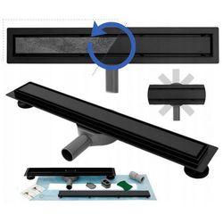 Czarny odpływ liniowy 90 cm, obrotowy syfon Rea Pure Neo Pro UZYSKAJ 5 % RABATU NA ZAKUP