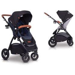 Easygo optimo air denim wózek do 22 kg z obracanym siedziskiem na pompowanych kołach + torba dla mamy gratis!