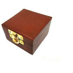 Pudełko drewniane 6.5x6.5 cm - 3725; świetne do np. breloczków
