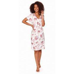 Koszula nocna ciążowa i do karmienia rozpinana na napy TCB.4107 Light Pink Doctor Nap
