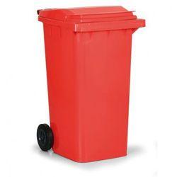 Plastikowy pojemnik na odpady CLD 240 litrów, czerwony