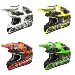 SCORPION KASK VX-15 EVO AIR MAGMA BK-NEON-YELLO