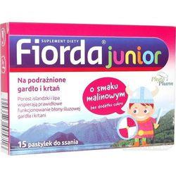 Fiorda JUNIOR o smaku malinowym 15 pastylek do ssania