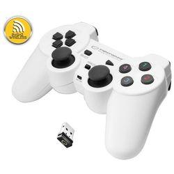 """Gamepad bezprzewodowy 2.4GHz PS3/PC USB Esperanza """"Gladiator"""" biało/czarny"""