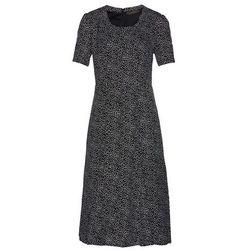 Sukienka midi bonprix czarno-biały w kropki
