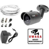 Zestawy monitoringowe, Zestaw do monitoringu domu mieszkania kamera LV-AL30HT Zasilacz Przewód akcesoria podgląd na TV